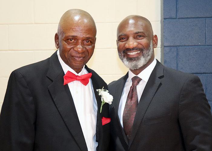 JPS retiree Joe Bryant and Dr. Errick L. Greene