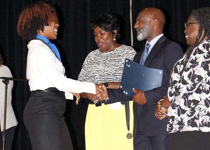 JPS Superintendent Dr. Errick L. Greene and student honoree