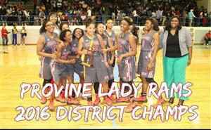 2016 Girls Basketball District Champs