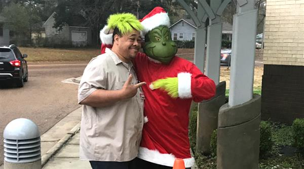 The Grinch Visits Boyd!