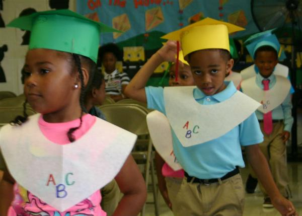 Pre-K students participate in promotion