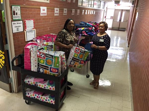 PTA Donates School Supplies