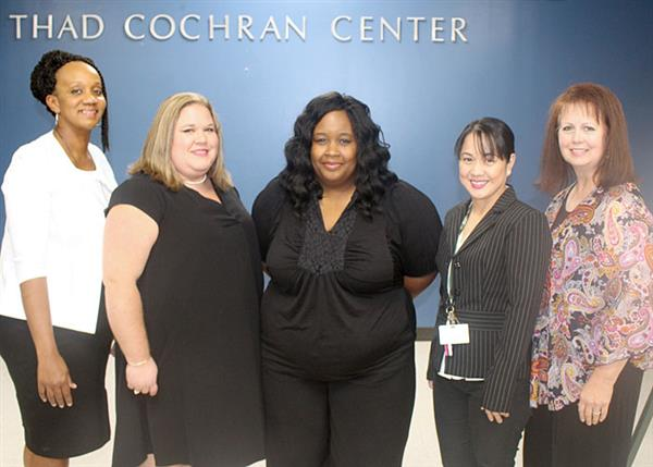 Tonia Rounds, Samantha Kimble, Jessica Pettie, Aileen Sanchez, and Vicki Latham