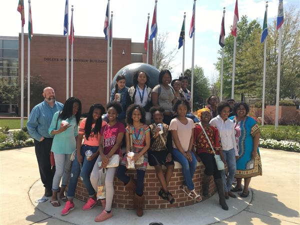 Students on JSU campus
