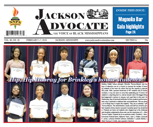 Brinkley Scholars Featured In The Jackson Advocate