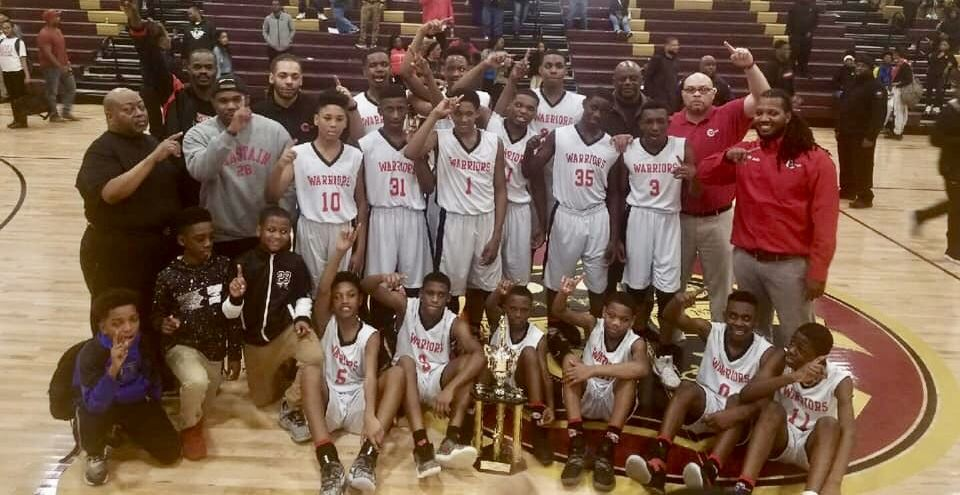 CHASTAIN DEFEATED PEEPLES 51-46 TO WIN THE JPS BOYS MIDDLE SCHOOL BASKETBALL CHAMPIONSHIP