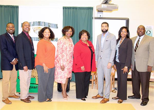A-TEAAM leaders with JPS administrators and Mayor Lumumba