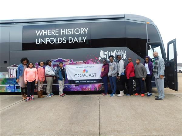 C-SPAN's 50 Capitals Tour Bus Stops at Northwest