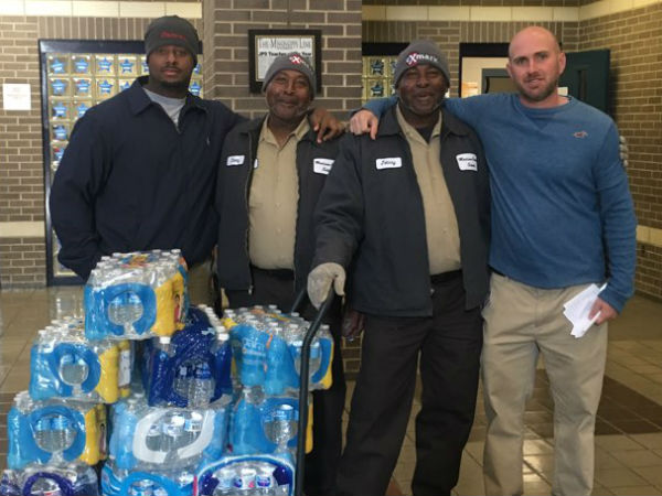 Madison County Schools donates water to Forest Hill