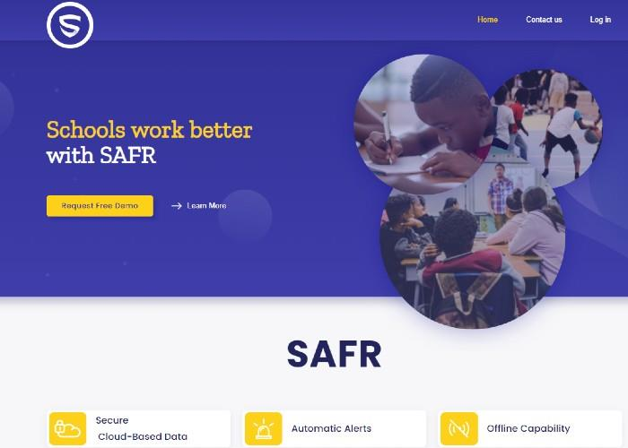 Safr Management website