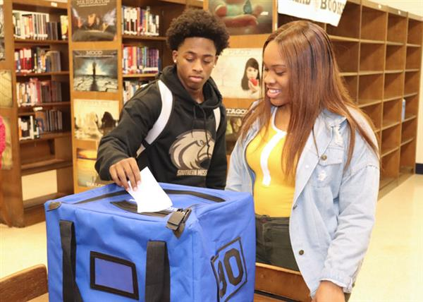 Callaway student casts ballot