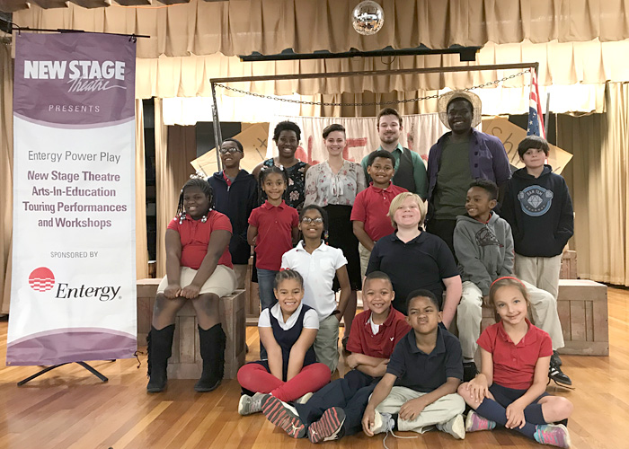 Casey Elementary students and New Stage actors
