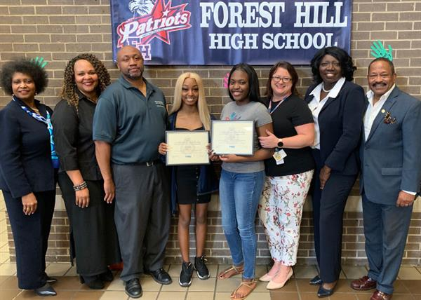 Forest Hill essay winners and ASJN members