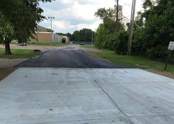 Jim Hill paved parking lot