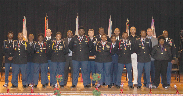 JROTC Scholastic Excellence recipients