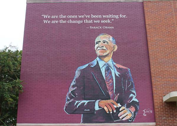 Barack Obama Mural