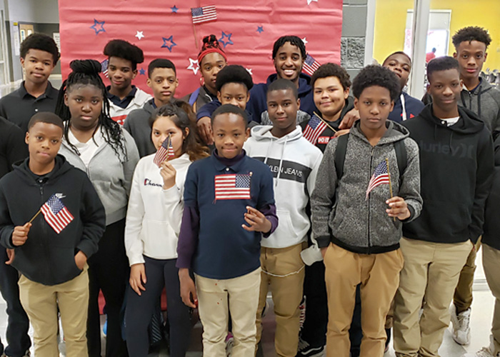 Peeples Middle School Celebrated Veterans Day with School Staff