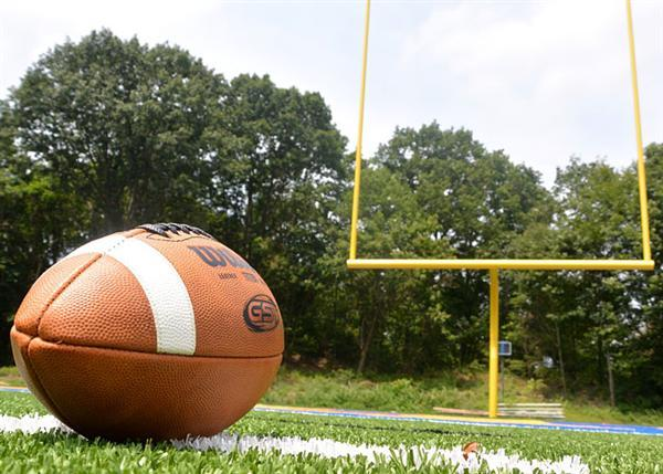 Football, field, goal post