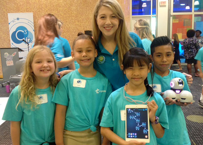 Spann coding team with mentor