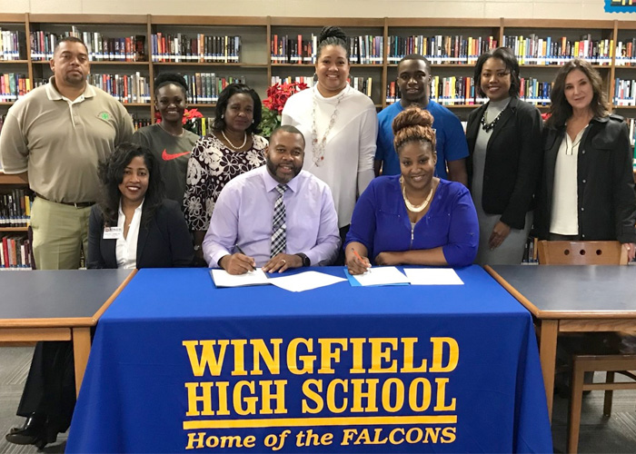 Wingfield Ag Academy educators and administrators
