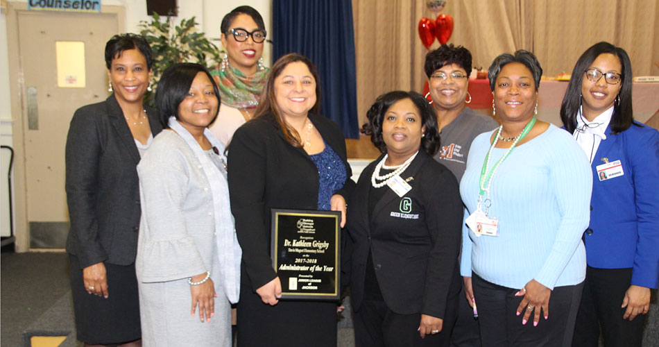 Administrator of the Year and fellow JPS administrators