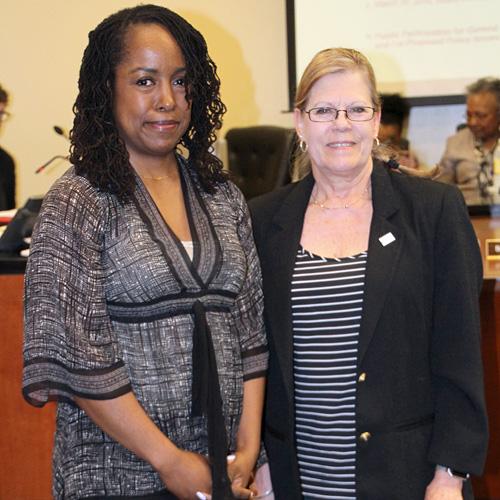 Letitia S. Johnson and Rev. Kathy Price