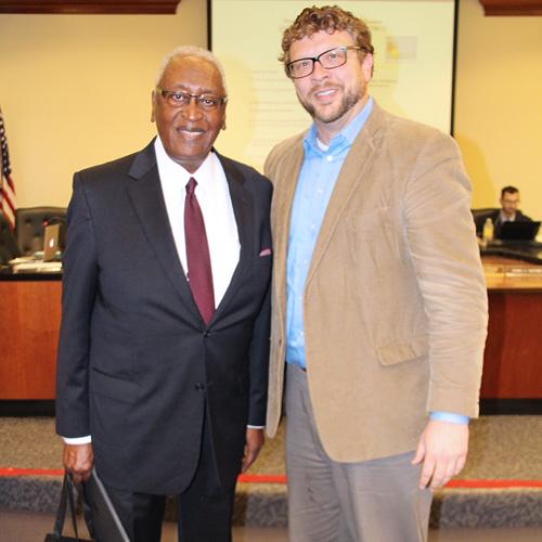 Dr. Hickman Johnson and Robert Luckett