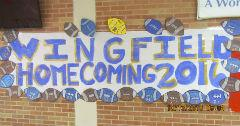 Wingfield H.S. Homecoming Banner 2016