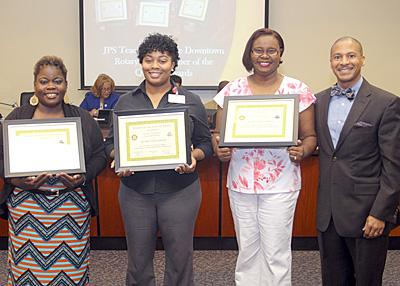 Teachers of the Quarter honorees with JPS Supt. Dr. Cedrick Gray