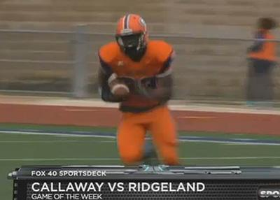 Fox 40 Sports Deck video capture of Desmond Sanders on the opening drive