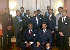 JPS Resume Challenge winners with Donnell Lewis and John Hardy of 100 Black Men of Jackson