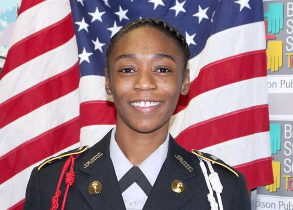 Tiffany Bryant in Army JROTC uniform