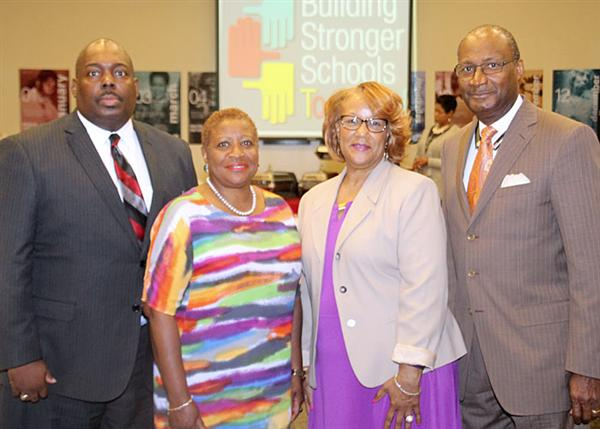 Dr. Freddrick Murray, Beneta Burt, Camille Stutts Simms, and Dr. Jerry Young